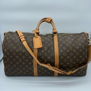 Louis Vuitton monogram keepall bandoliere 55